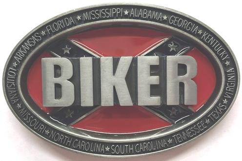 Battle Flag Biker Belt Buckle