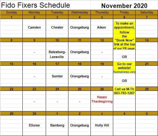 November 2020 Fido Fixers