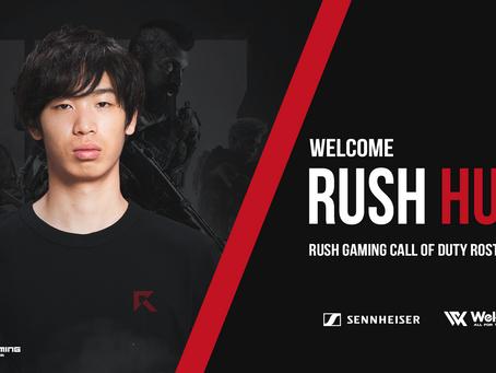 Rush Hunt 選手 新加入のお知らせ