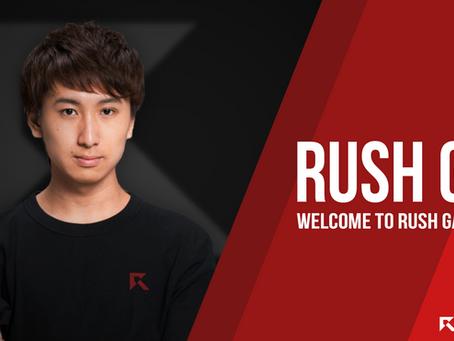 Rush GP 選手 新加入のお知らせ