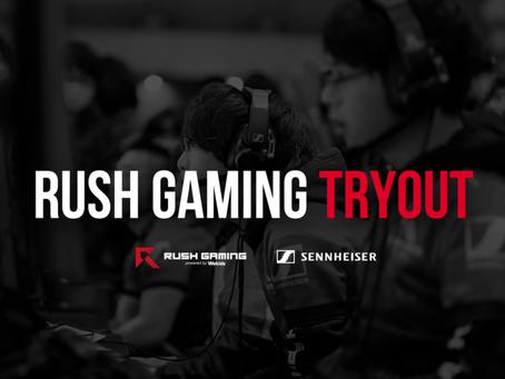 Rush Gaming トライアウト実施のお知らせ
