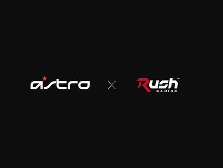 Rush Gaming、 ゲーミングブランド「ASTRO Gaming」とスポンサーシップ契約を締結