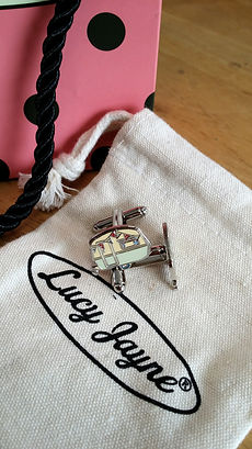 Unique British design Lucy Jaynes Vintage Caravan Cufflinks