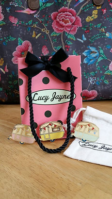Unique British design Lucy Jaynes Vintage Caravan Badges