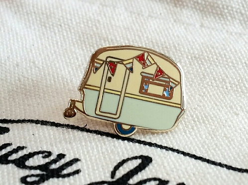 Vintage Caravan Pin Badge