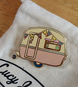 Unique British design Lucy Jaynes Vintage Caravan Brooch