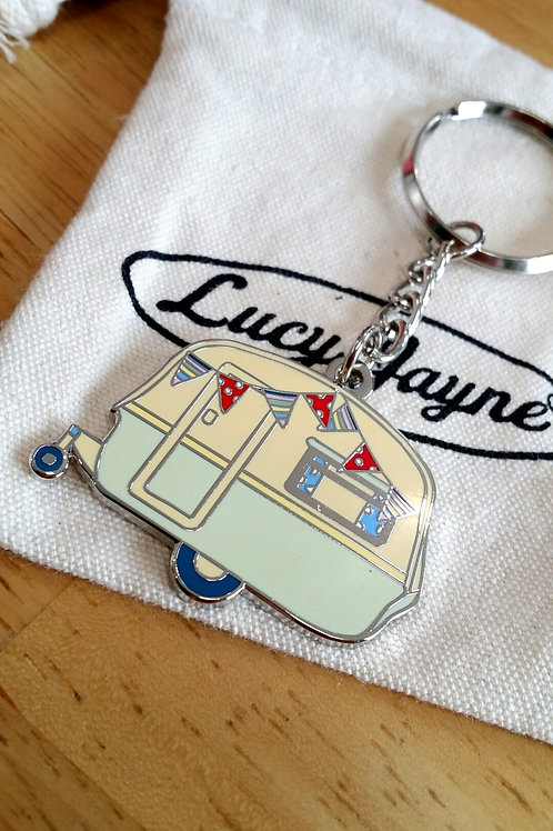 Vintage Caravan Key Chain Apple Green