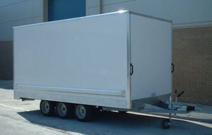 custom built box trailer