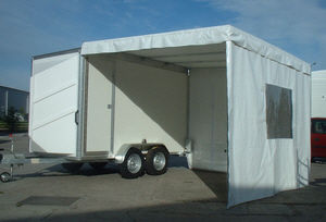 Box Trailer with Awning