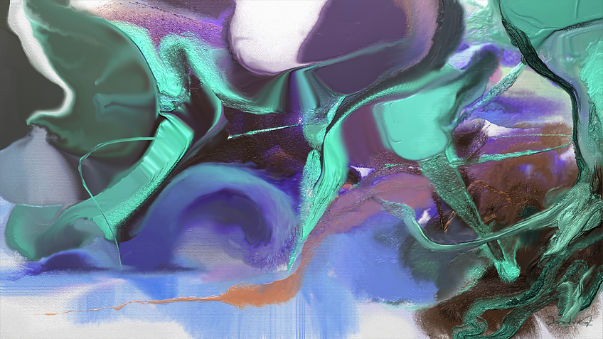 Digital Flow Gordon Berger art painting
