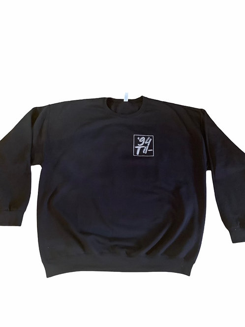"Black Crewneck Sweater ""Manifest & Maneuver"""