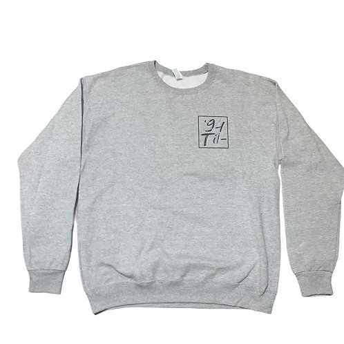 "Gray Crewneck Sweater ""Manifest & Maneuver"""