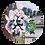 Thumbnail: ケヤッキー×東北ずん子コラボ缶バッジ【東北イタコ①】