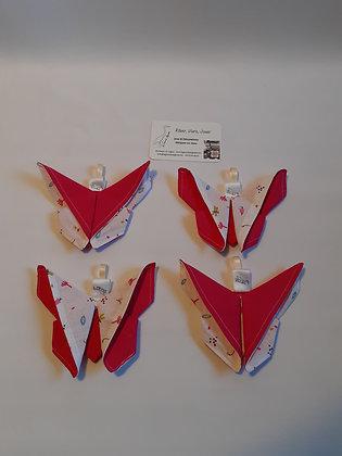Papillon origami roses 4pc