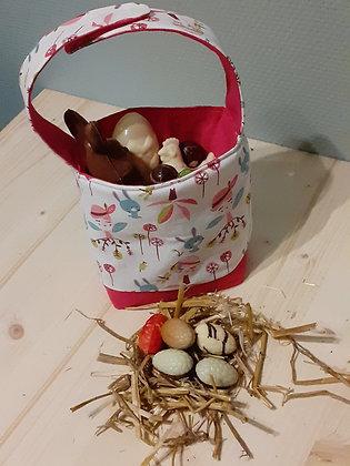 Panier de récolte gourmande - fées lapins