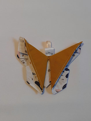 Papillon origami ocre bis 1p.