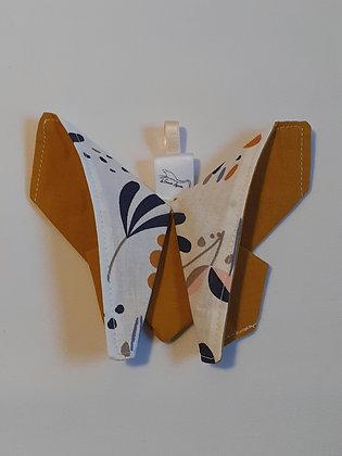 Papillon origami ocre 1p.