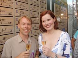 Gina Davis and Mike