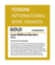 "Gold Medal Award for ""Love without borders"" Chardonnay by Sjoeblom Winery"