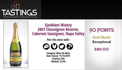Sjoeblom Winery Chauvignon Reserve Gold Medal Award