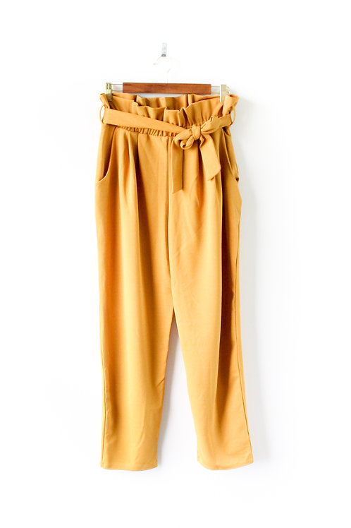 Yellow Paper Bag Pants Size Large