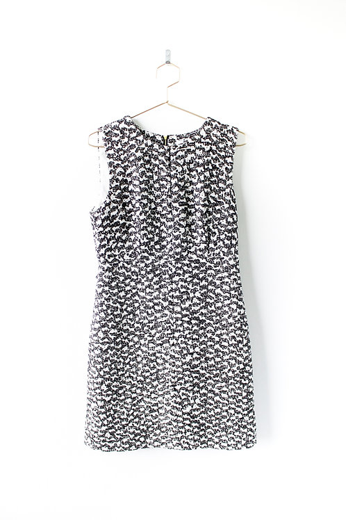 DVF Black and White Tweed Dress Size 10