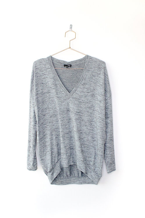 Wilfred Free Grey Knit Long Sleeve Size Small