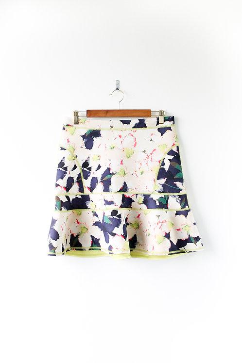 J Crew Floral Neoprene Skirt Size 4