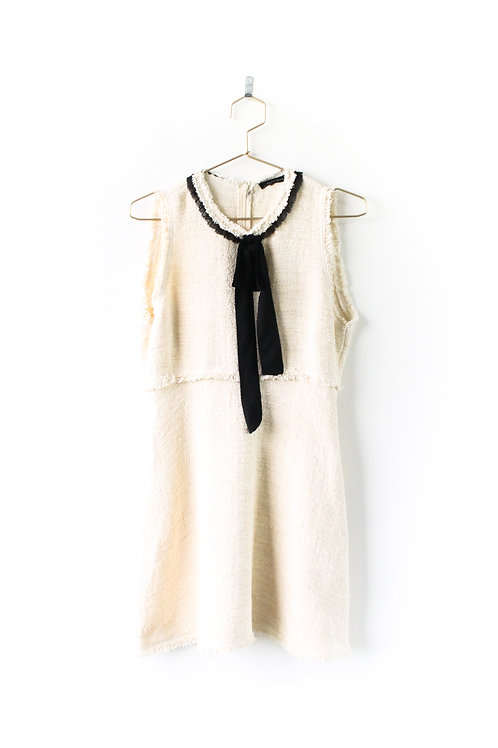 ZARA Cream Dress Size Large