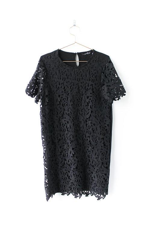 ZARA Black Lace Dress Size Large