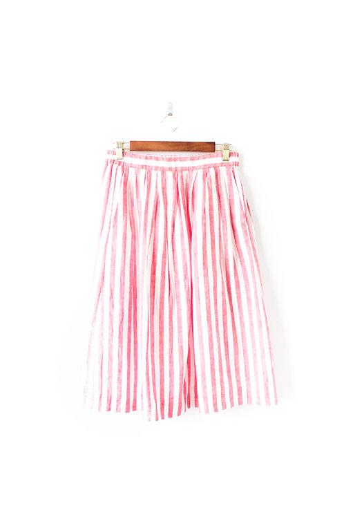 JCREW Midi Red and Cream Skirt Size 4
