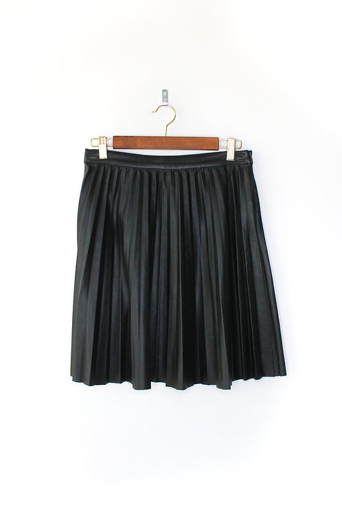 Zara Pleated Faux Leather Skirt Size Small