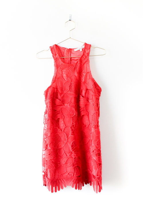 Lovers & Friends Red Lace Dress Size Medium