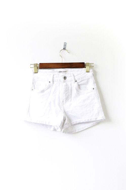 Zara White Denim Shorts Size 2