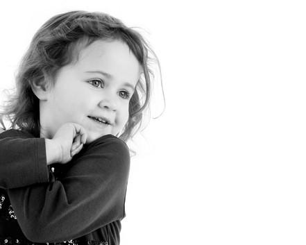 Studio Child Black and White Portraiture