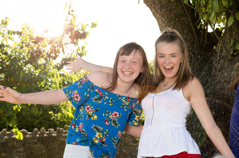Cousins in the sunshine Portrait