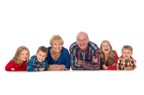Granparent Grandchildren studio Portrait