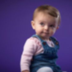 Toddler Studio Portrait in Purple