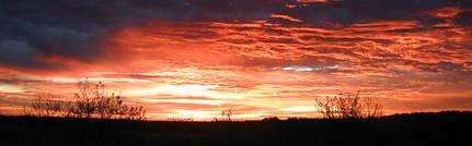Central Texas Sun Set