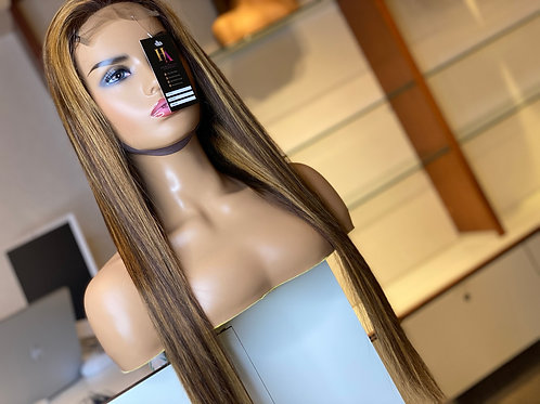 Higlighted Closure Wig