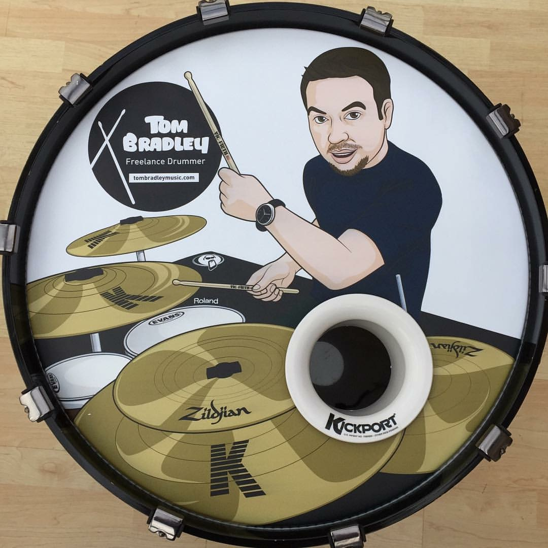 Tom Bradley Custom Drum head.JPG