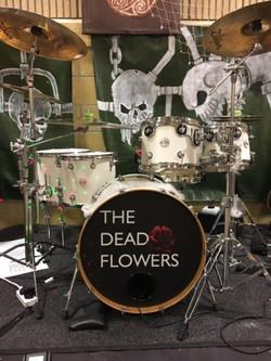 Dead Flowers custom drum skin.JPG