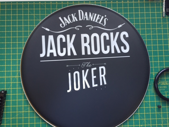 Jack Daniels Custom Drum Head