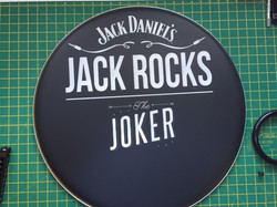 Jack Daniels Custom Drum Head