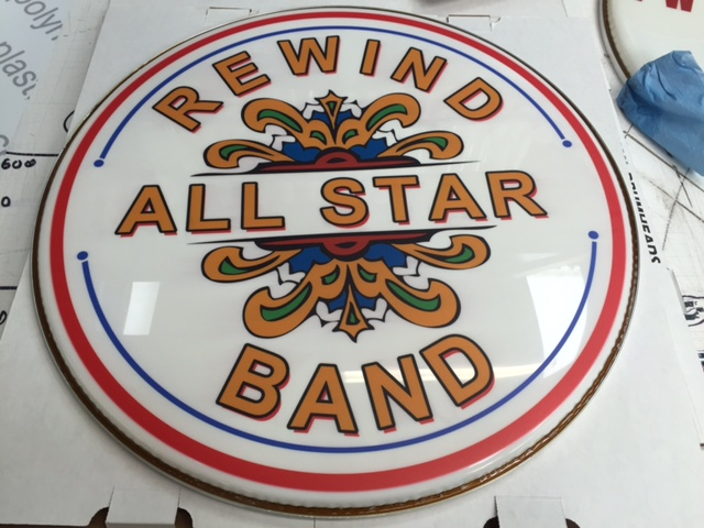 Custom bass drum heads