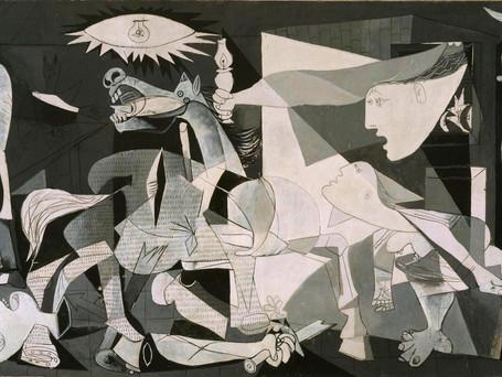 Il fiore della relienza in Guernica di Pablo Picasso.