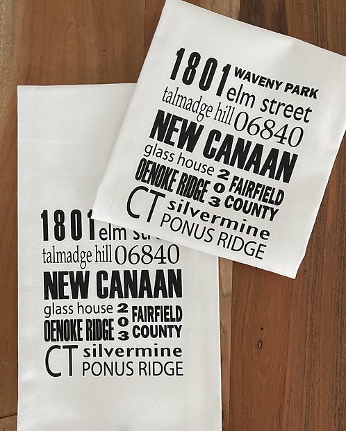 New Canaan Tea Towel