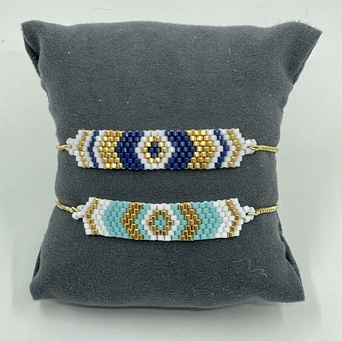 Woven Beaded Adjustable Bracelet