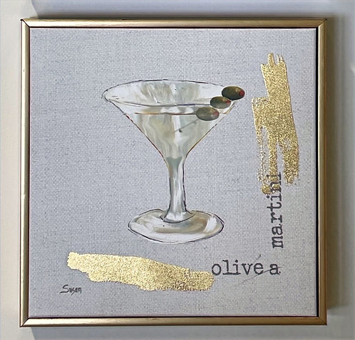 """Olive a martini"" Bar Art"