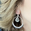 Thumbnail: Woven hoop earring with drop